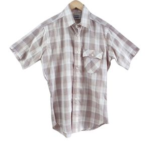 Vintage Levi's Made in USA Plaid Button Down Top